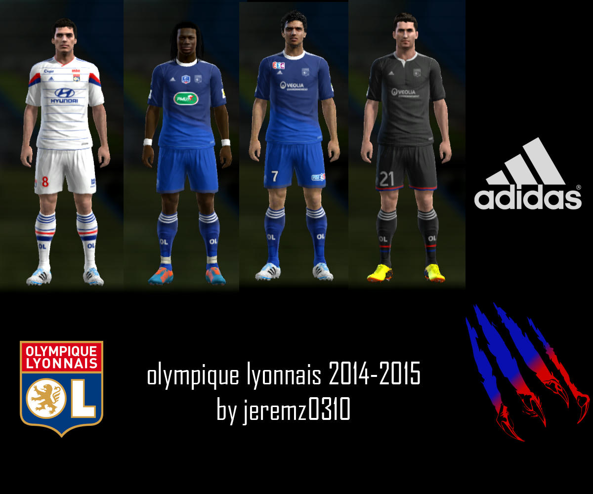 Pes-modif: PES 2013 Olympique Lyonnais 2014-2015 Kits By