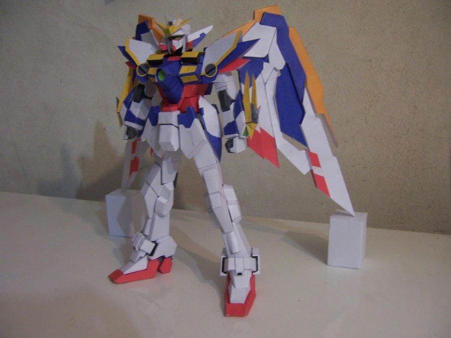 wing gundam kai paper craft model by storml