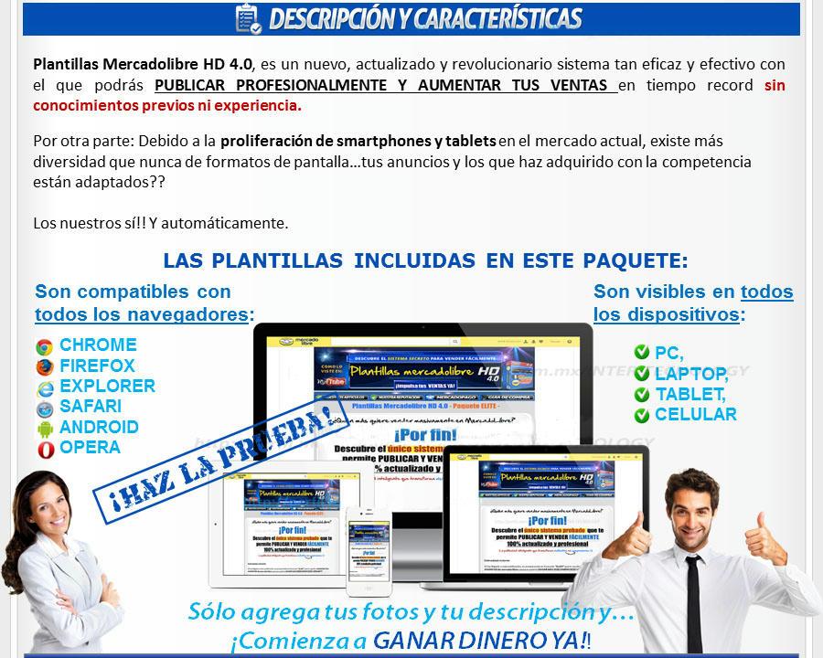 Plantillas editables modificables mercadolibre mercado libre diseño html powerpoint para vender photoshop