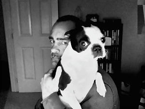 Rick R. Reed - I Heart Boston Terriers Selfie Lily and me DSP