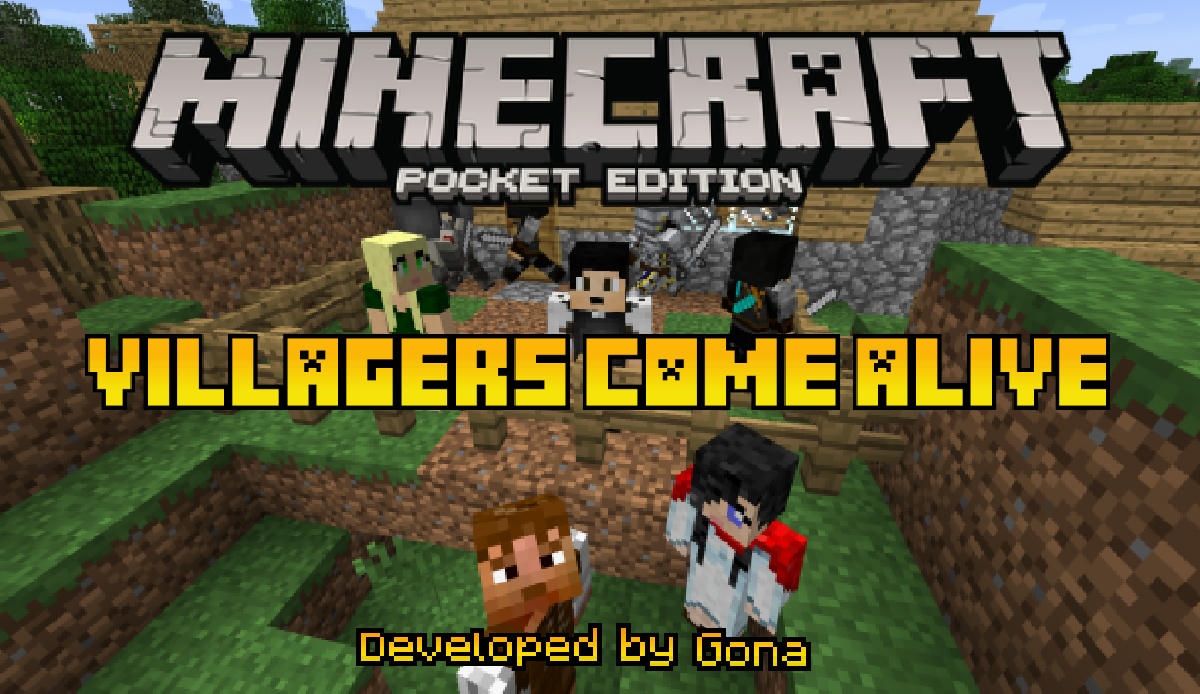 Villagers Come Alive Add-On!!! Make new friends! Hire mercenaries! Android,  iOS, Win10 - MCPE: Mods / Tools - Minecraft: Pocket Edition - Minecraft  Forum - Minecraft Forum