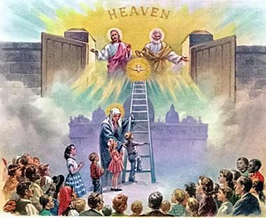 La Virgen Maria es, por su Intercesión, Puerta del Cielo - divider1