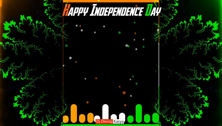 Top Independence Day Special Green Screen Template