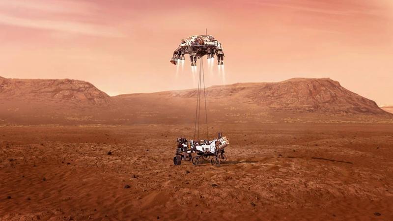 El Perseverance Rover llegó a Marte y empezó su aventura en busca de vida