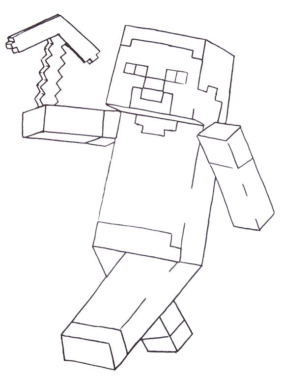 minecraft coloring pages - photo #7