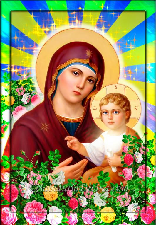 La Madre de Dios con el Niño Jesus en brazos (2)