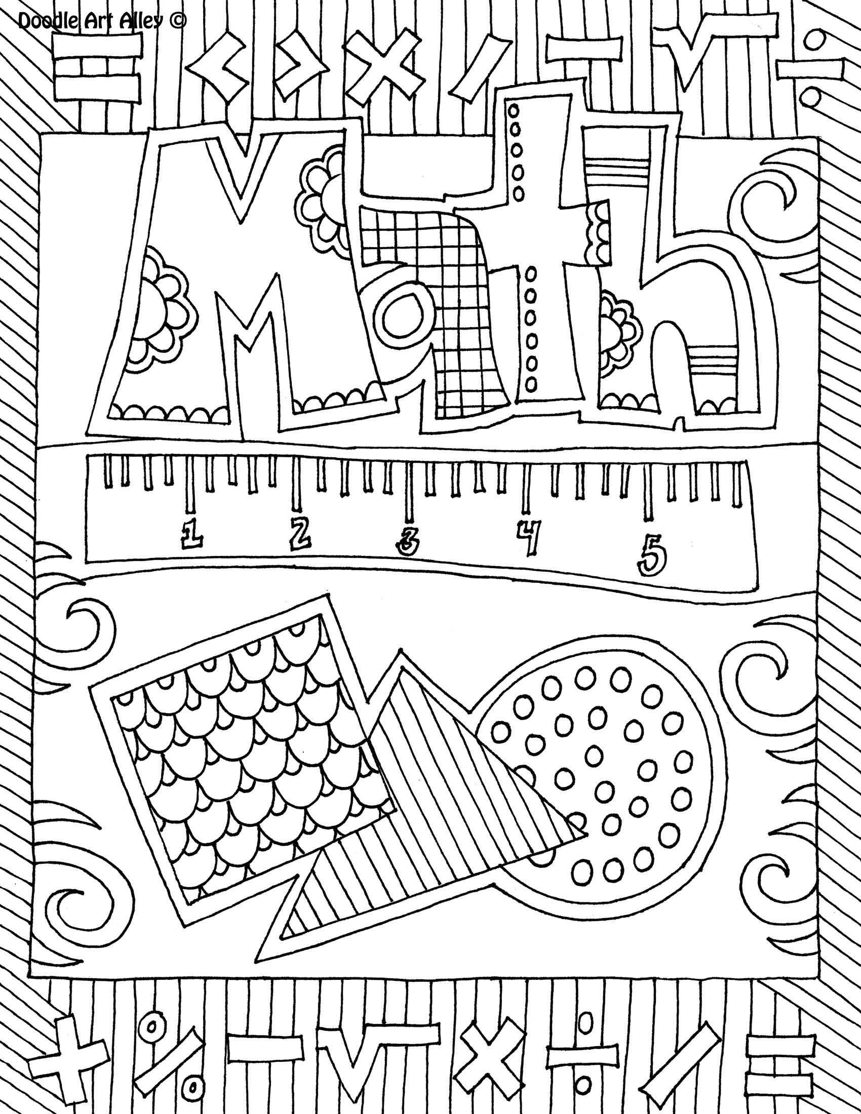 Math pages for kids to print for Math coloring pages