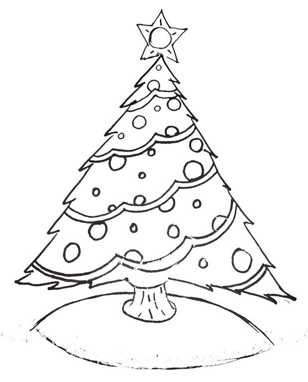 Christmas Trees Colouring Pages: Free Printable Christmas Tree And Santa Coloring Pages