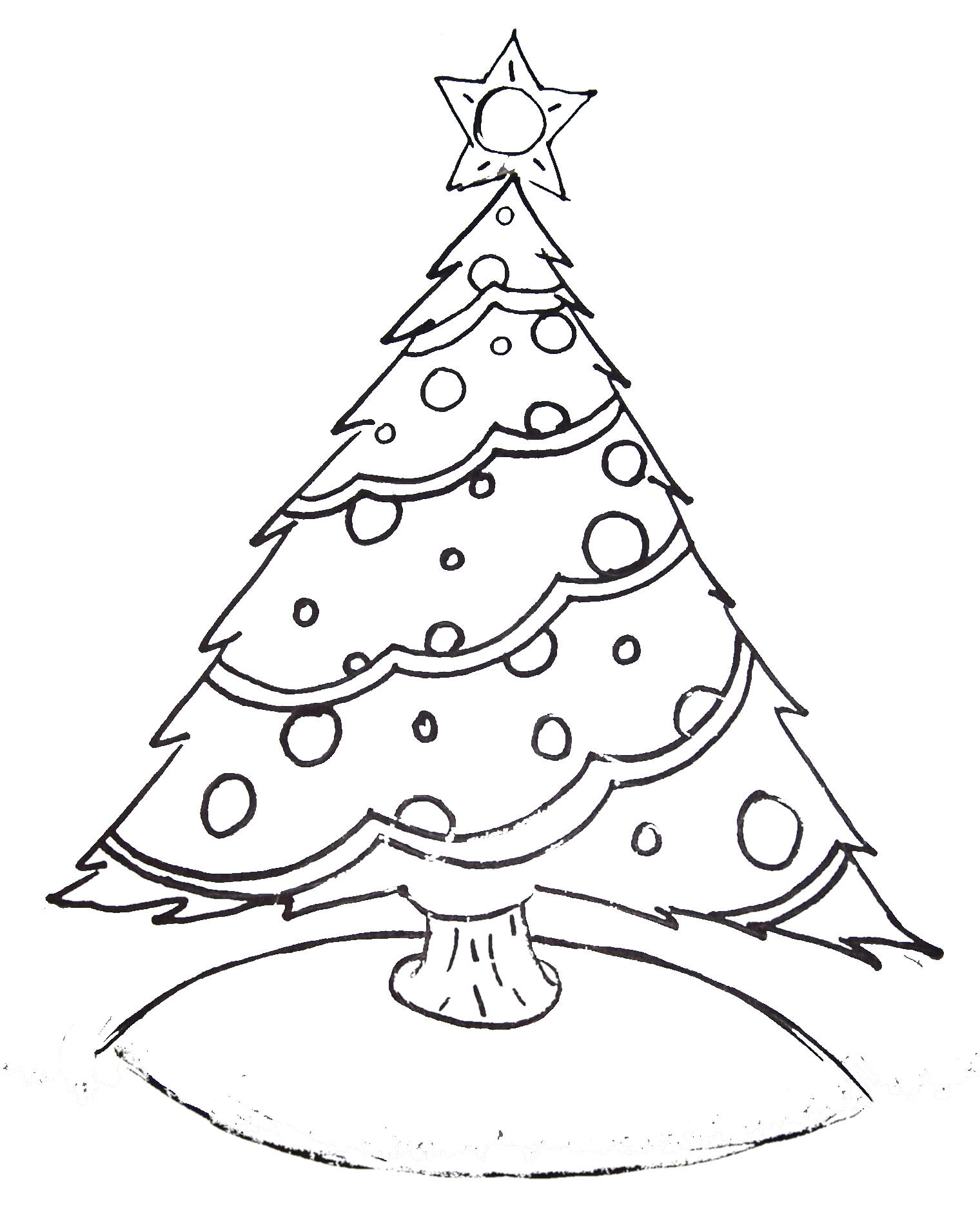 Free Printable Christmas Tree Coloring Pages  Free Christmas Tree Templates