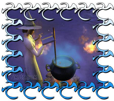 The Sims 2 Apartment Life Apartman Hayatı Gif Sihir Yapan Cadı Sim Kazan Karıştıran İyi Cadı
