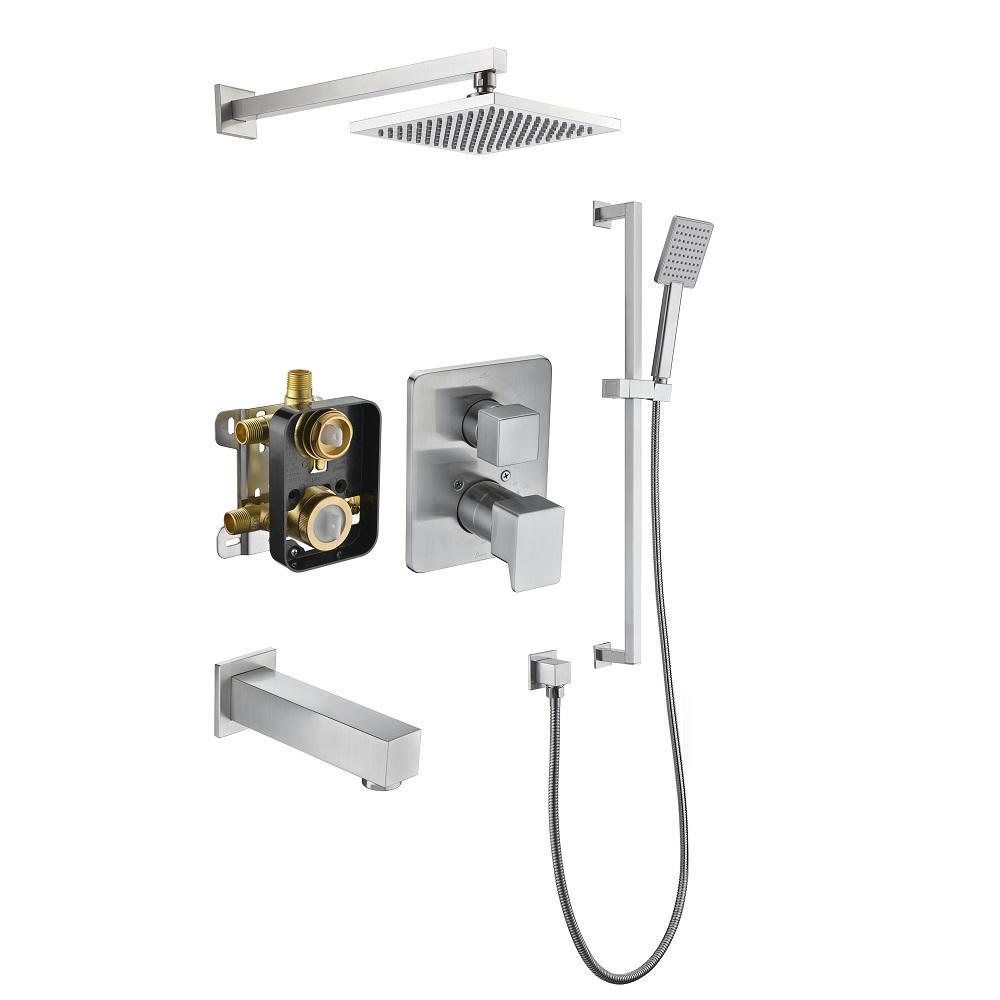 Biscayne Shower Set DSSBE04BN Brushed Nickel